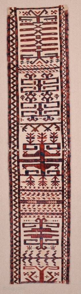 Early 19th Century Saryk Tent Band Fragment size 32x146 cm mounted