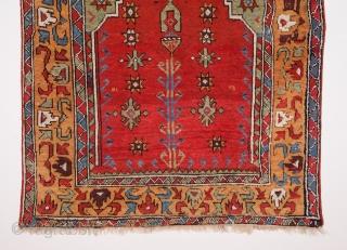 Central Anatolian Konya Prayer Rug c1800's size 125x150 cm