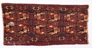 Early 19th Century Tekke Six Gul Torba Fragment size 46x90 cm