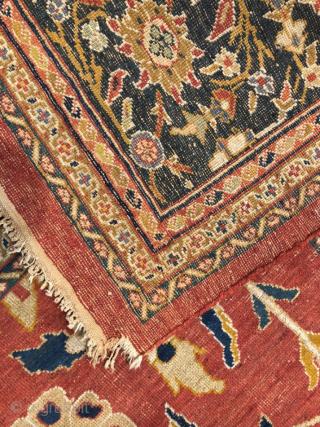 Persian Ziegler Carpet circa 1880-90 size 370x455 cm as found condition