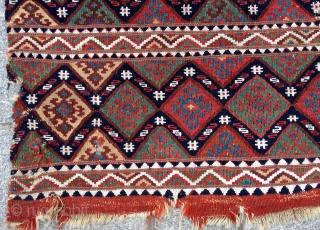 Mid 19th Century East Anatolian Malatya Kilim Bag size 90x90 cm