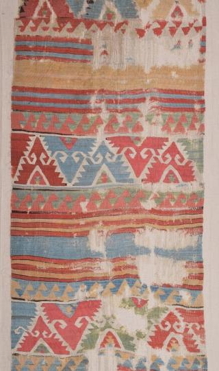 18th Century Central Anatolian Kilim Fragment size 92x292 cm