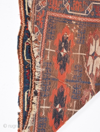 Early 19th Century Central Anatolian Kurdish Rug 130x175 cm
