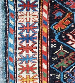 Colorful Shirvan Rug circa 1870 size 93x137 cm
