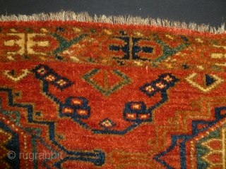 ca.1880 or erlayer Salor design Ersari torba fragment,.have silky wool qualleti,natural colour,.size:45x110cm