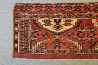 Late 19th natural dyes Ersari torba probably Kizilayak tribe 100 x 28 cm