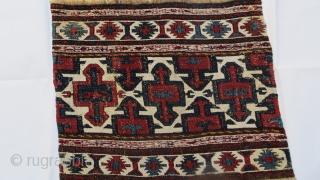 very fine Shahsevan sumak Mafrash Panel 1870 circa,size 40x50cm