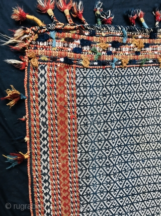 Qashqai flatweave horse cover age 1890 circa all natural colorsand very good condition size 150x150cm