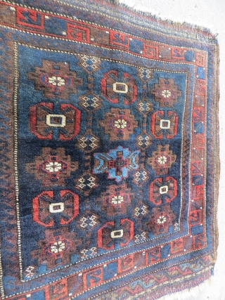 Baluch bagface 1880 circa,size 75x75cm