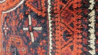 old Baluch Turkmen gul size 74x70cm