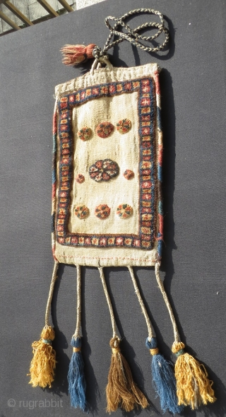 double face Qashqai  spindle & spoon bag,size 80 (with the fringes)x28cm