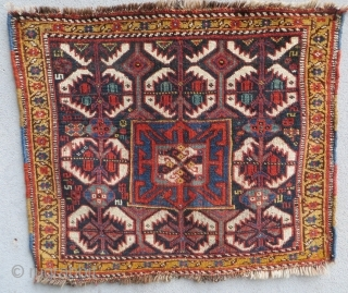 Khamseh bagface 1880 circa with good colors,size60x68cm