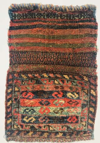 Qashqai Chanteh 1880circa all good colors,-size 25x44cm with Kilim