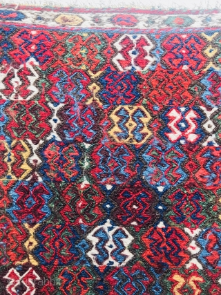 Very fine NW Persian Sumak 1870 circa-size 55x56cm in very good condition,