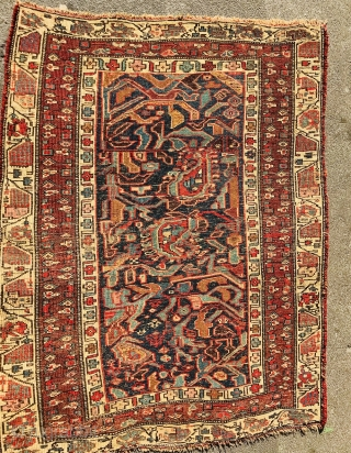 Persian Bijar Rug 1870 circa, on good condition,size 152x120 cm