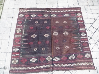 Baluch RU KORSI all good colors and good condition size160x165cm