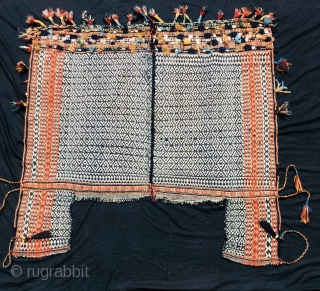 Qashqai flatweave horse cover age 1890 circa all good colors and  very good condition size 150x150cm