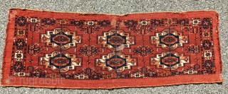 This is a really fine Tekke torba with apparently great age. I think it has the suppleness and fineness of an early 19th century Tekke torba. The dyes are really good with  ...