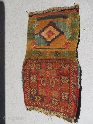 Qashqai Chanteh circa1880 all right color -size 25x44cm with Kilim