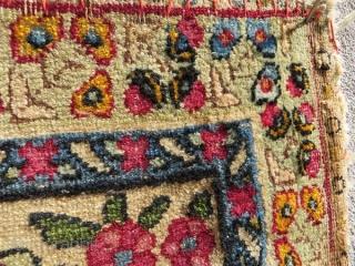 small Kerman laver 1880 circa,size 54x38cm