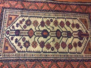 camel ground baluch rug size145x95cm