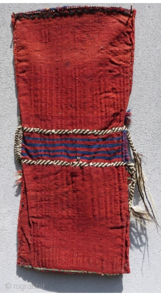 ".Small Southwest Persian Khamseh khorjin or saddle bag. Beautiful colors from all natural dyes. Symmetrically knotted. Size is 13"" x 31"" (34 x 79cm)"
