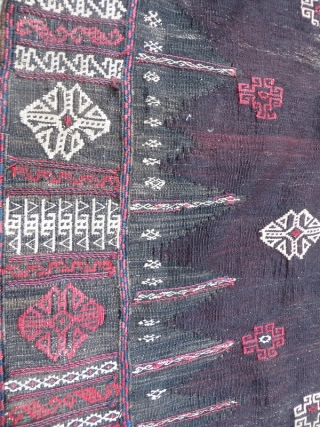 old Baluch ru korsi all good colors and good condition size160x165cm