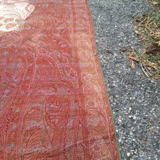 "Antique European Shawl measuring 60"" * 125"""