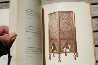 Gaston Wiet: Album du Musee Arabe du Caire, 1930, 17 x 25,5 cm. 100 plates in sepia with additional 100 pages with text in English, French and Arabic, rather good condition