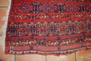 Ersari chuval fragment, 19. c., 70 x 140 cm
