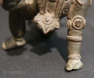 "17th c  Hindu 'Balakrishna',  bronze,  4""H x 2""W. 