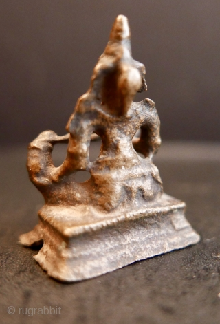 "16th c Hindu Goddess 'Annapurna';  bronze;  1 1/2""H or 3.8cm.  'Annapurna' has many epithets:  Kitchen Goddess,  Goddess of the Harvest, among others.  In Sanskrit,  Her name translates  ..."