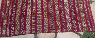 "Large Vintage Zemmour Hanbel, middle Altas, Morocco, 67"" x 105"" 5'7"" x 8'9"""
