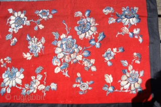 chinese textile on felt 56x86cm