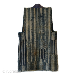 Sashiko Boro Noragi - Sodenashi with Dense Repairs