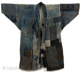 Hand sewn cotton boro 襤褸 noragi. 