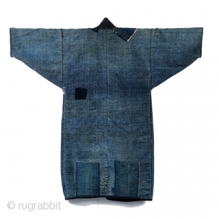 Boro Noragi - Meiji-era Indigo Cotton and Hemp Blend.