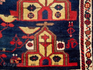 This dated rug has been given several attributions. It is our opinion that it is the work of Armenian Christians living in southwest Persia. A detailed basis for this opinion can be  ...