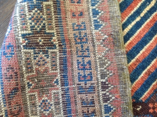Persian ZABOL Boluch . 19th century,excellent and original  condition, purple background.