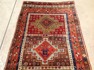 Turkish / Sivas Zara rug. Magnificent  and Orjinal condition. There isn't any missing part Damage and old repairs.  Size 3'11x9'5 ( 120x287 cm)