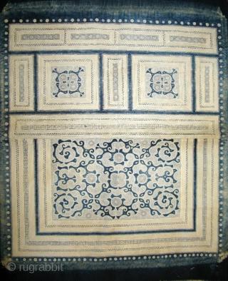 Miao Baby carrier. Very fine batik with great indigo colour.