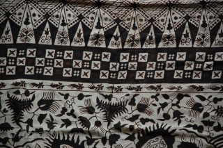 "A hand-drawn silk batik from Rembang Northeast Java, Indonesia. 69"" x 43"". late 19c"