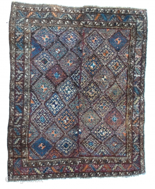 "Uzbek Julkhyr, (sleeping rug), a long-piled rug of the Uzbeks of Central Asia. Nice colors early 1900s. 90"" x 72"""