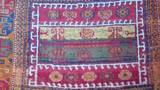 Size : 100 x 210 (cm) , Middle anatolia (konya/cihanbeyli), Over 150 years old ,  Natural dyes !
