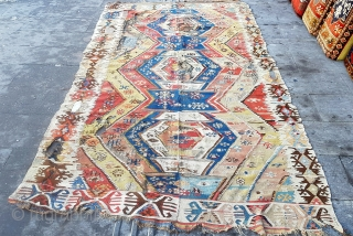 Size : 155 x 290 (cm), I bought it in the Nevşehir (Cappadocia) region, the carpet is too old or not, I don't know. The only thing I know is that the house  ...