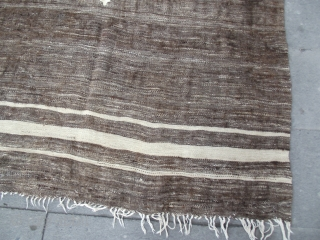 size : 130x165   -Southeast Anatolian -Angora goat hair on cotton string warps -in good condition -unusual-early 20th century Siirt