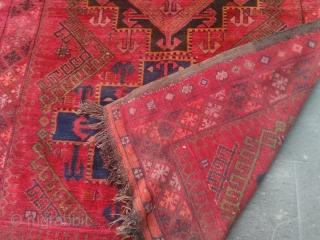 Size : 185*250 (cm)  19th century eastern Anatolia  madder