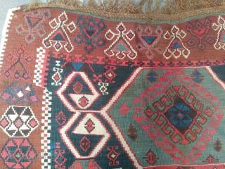 Size: 135*345 Beginning of the 20th century  Eastern Anatolian kilim