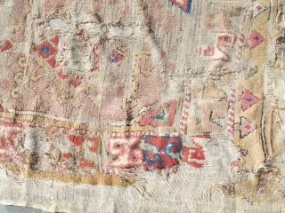 Size : 125 x 135 (cm)   19th century middle Anatolian fragment .