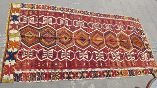 Size : 165 x 306 (cm), Middle anatolia (nomadic kilim)